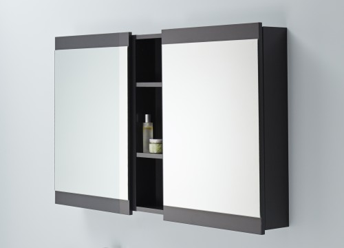 Soji 500 Mirror Cabinets Soji 200 Open Self Exochique Graphite - RRP $1120