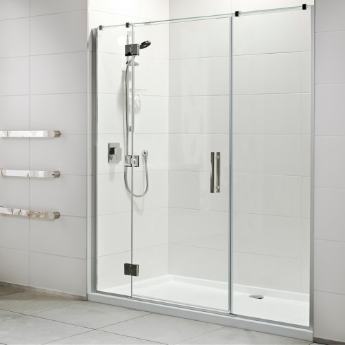 Lifestyle 1000x1800 3 Wall Tiled Wall Shower Offset Door Short Hinge - RRP $3230