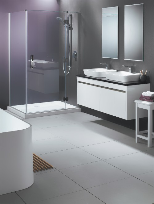 Lifestyle Shower and Sirocco Alumino Vanity in White Gloss