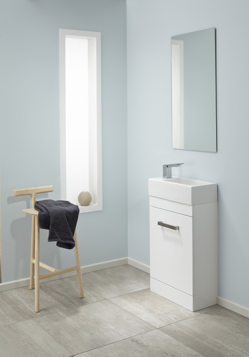 Mini VC Velaire Floor White Gloss Sleek handle