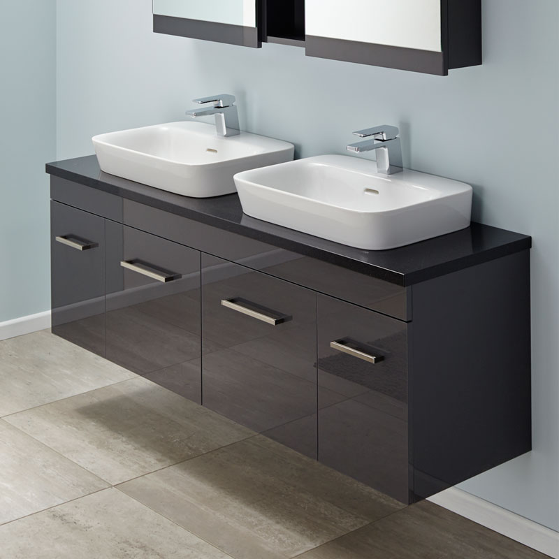 Brilliant This Is A Modern Stylish Vanity Unit A Lovely Bathroom Product  Fashionable Square Ceramic Top, Nice Shape  Dark Wood Grain Floorstanding Plywood Cabinet  Discreet Pull Handles  2 Softclosing Drawers Basin Mixer And Popup