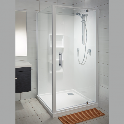 White Bathrooms Nz soul acrylic wall shower | athena bathrooms