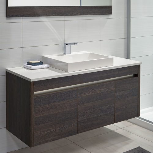 Sirocco Alumino 1200 Durachique Mali Snow Bench with Slab Basin one tap hole - RRP $3370