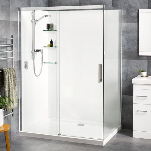Motio 1000x1400 2 Sided Shower Flat Wall - RRP $3270